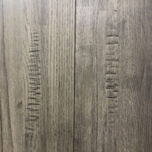 "7"" Solid Oak Hand Scraped - Coast Line Grey"