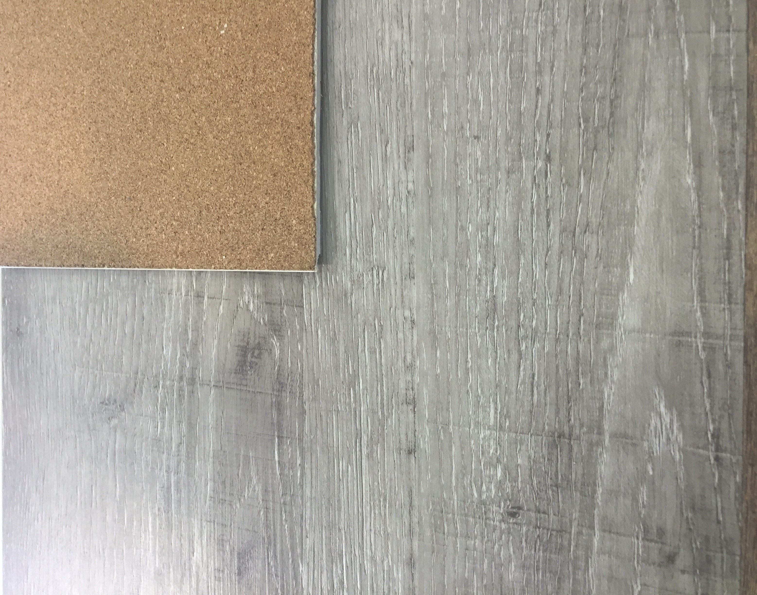 Wpc luxury vinyl with cork attached mm thickness