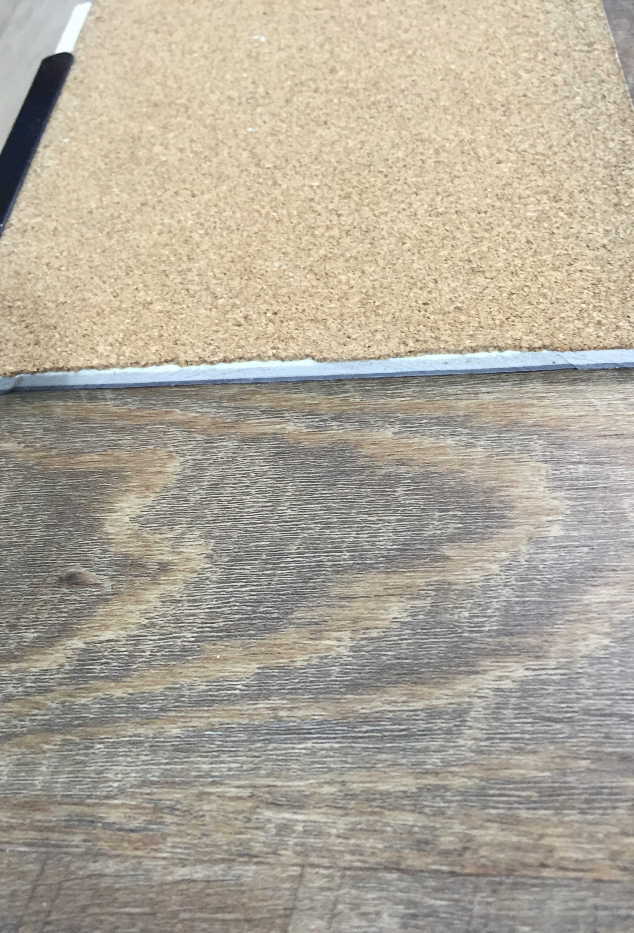 Wpc Luxury Vinyl With Cork Attached 7 5 Mm Thickness
