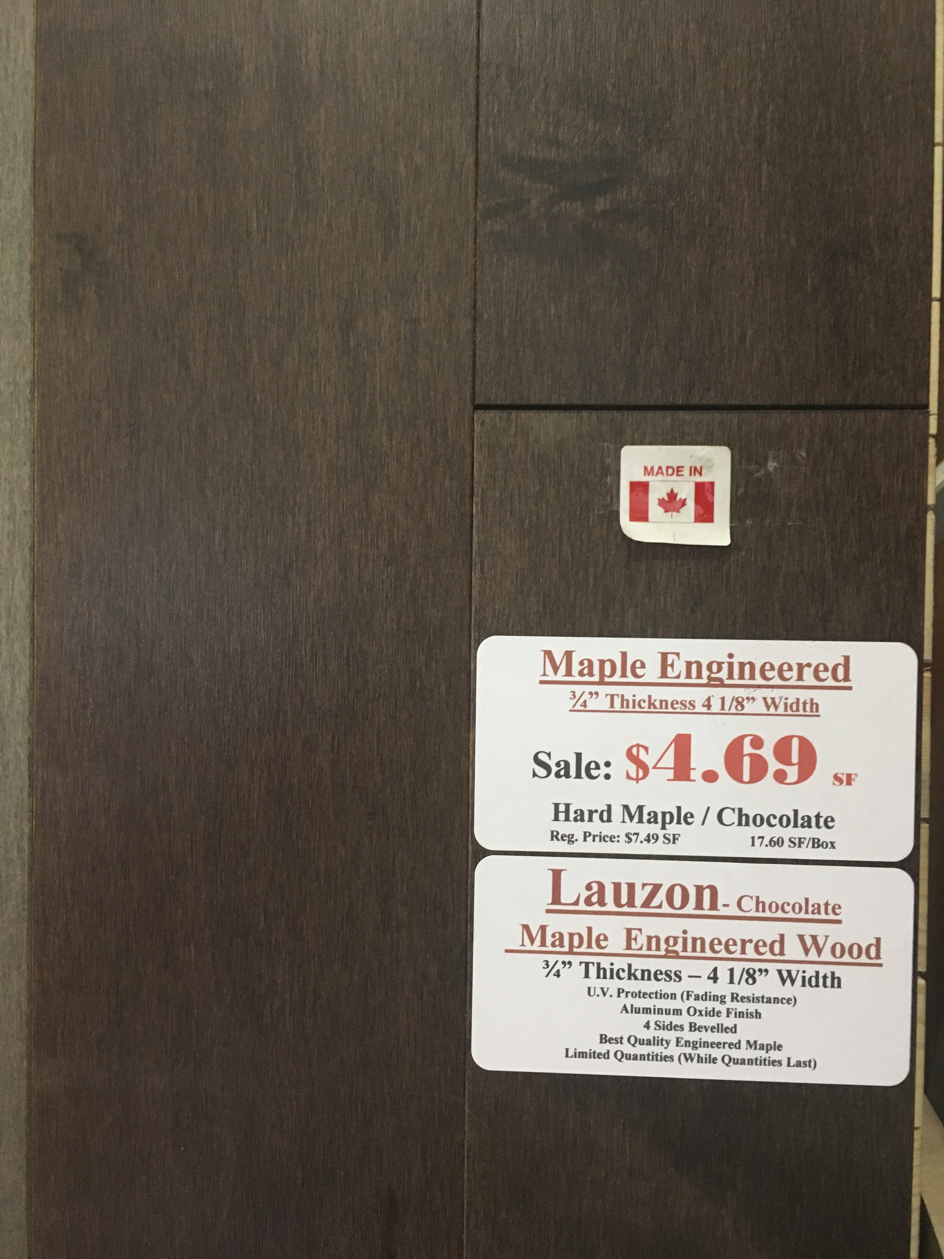 34 Thickness Engineered Canadian Hard Maple 4 18 Width Canada