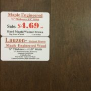 Engineered Maple – Walnut Brown Lauzon-Bubeau